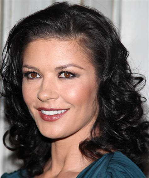 Zita Brown Earrings catherine zeta jones medium wavy formal hairstyle