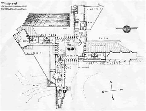 adhouse plans ad classics wingspread frank lloyd wright archdaily