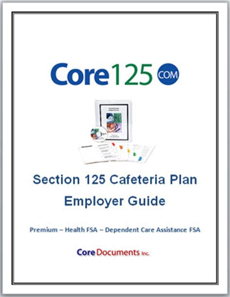 what is a section 125 plan dependent care assistance fsa plan documents for section