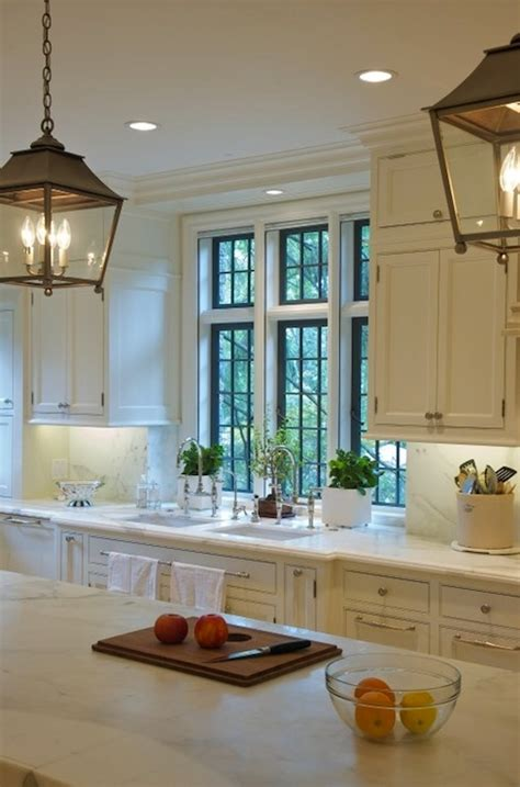 kitchen island carriage lanterns transitional kitchen