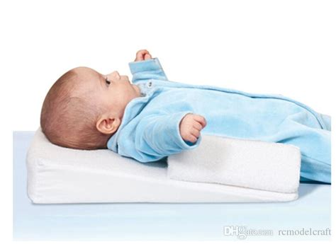 baby infant anti roll prevent flat pillow sleep fixed