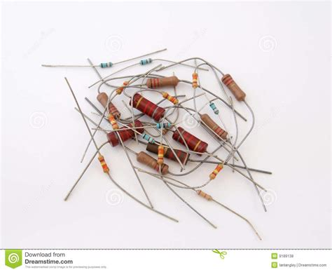 assorted resistors assorted resistors royalty free stock photos image 9189138