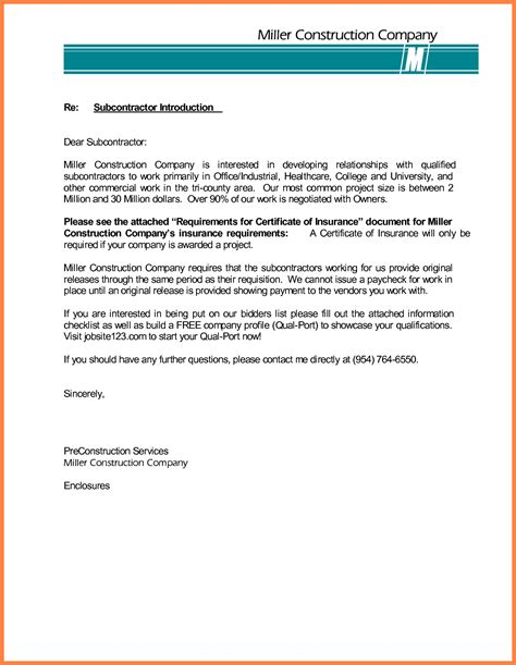 Business Letter Format Construction cover letter for company introduction images cover