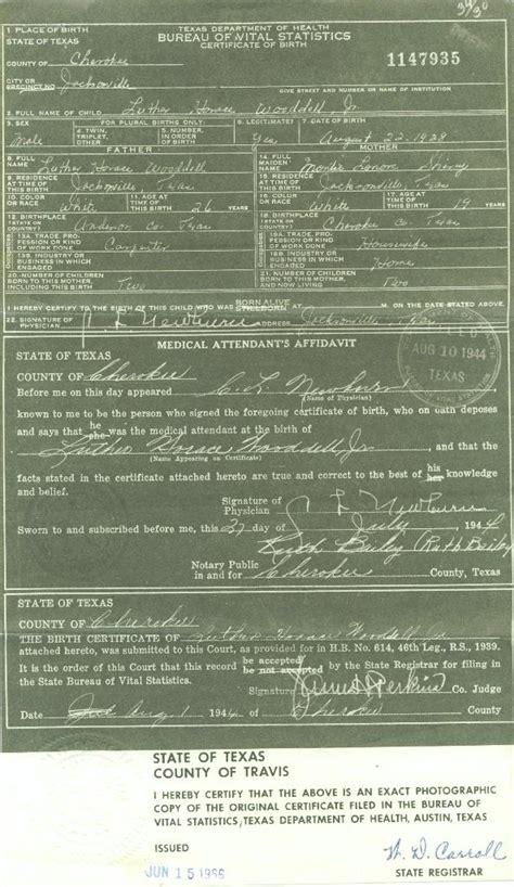 Birth Records Tx Birth Certificates