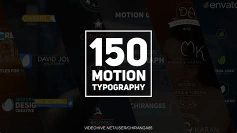 150 motion typography corporate after effects templates