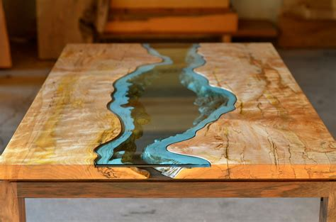 how to make a river table lake and river adorned furniture of wood and glass lost