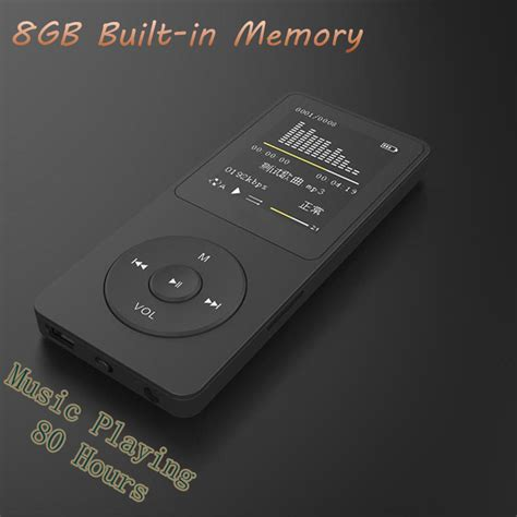 real mp3 hot sale real 8gb lossless music playing time 80 hour mp3