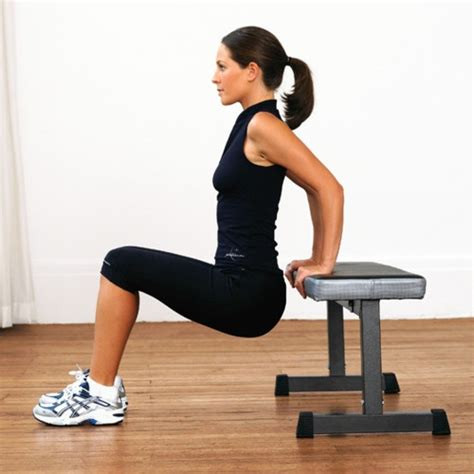 triceps bench dip tricep dips body weight fit and healthy pinterest