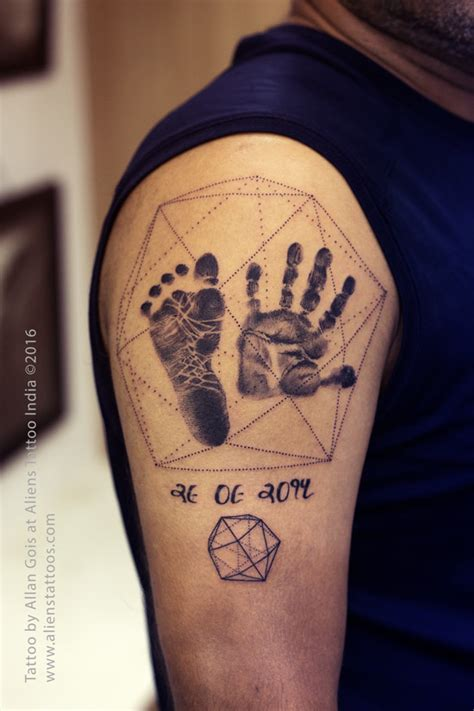 geometric tattoo palm palm prints with sacred geometry tattoo by allan gois at