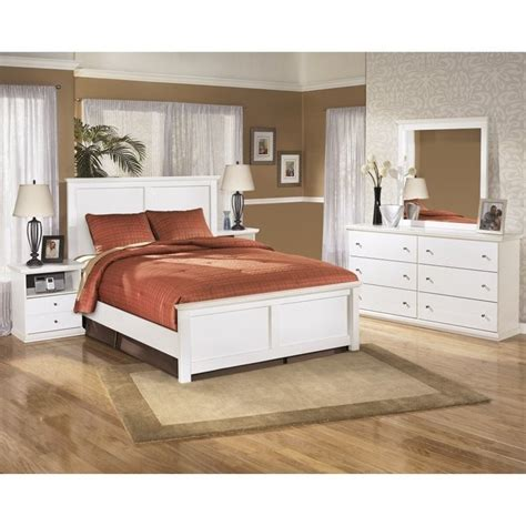 white panel bedroom set ashley bostwick shoals 5 piece wood queen panel bedroom