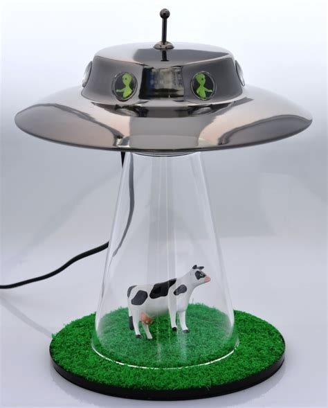 the alien abduction lamp i want to believe the gadgeteer