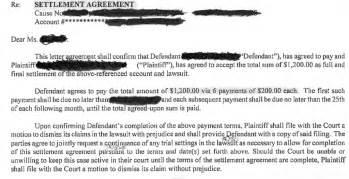 Loan Settlement Agreement by Debt Settlement Agreement Weston Pllc