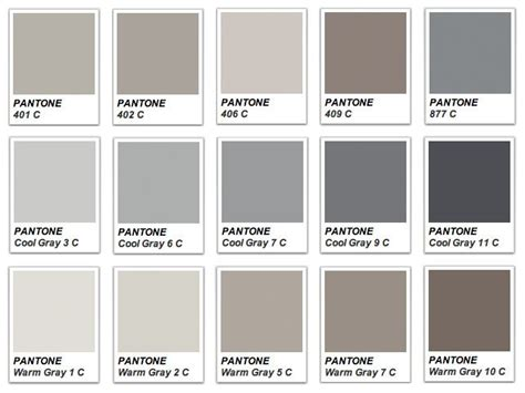Shades Of The Color Gray 59 Best Images About Pantone Colori On Pantone