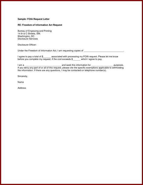 sle of formal letter requesting information cover