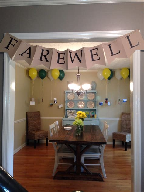 themes party farewell farewell banner banners pendants and garlands