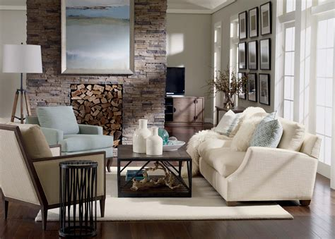 trendy living room rustic chic living room ethan allen