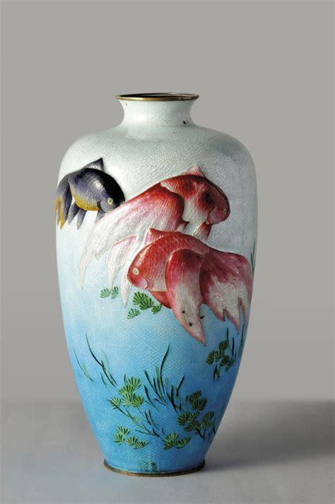 Goldfish In Vase Exquisite Craftsmanship Exhibition Of The Japanese