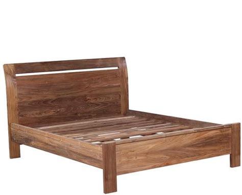 Set Ombak Size 1 reclaimed wood bed and 2 x bedside table set beds