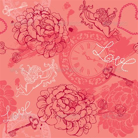 valentines day pattern valentines day seamless pattern graphicriver