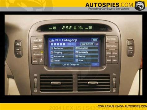 security system 2004 lexus is navigation system photos and info on new lexus ls430 navigation system autospies auto news