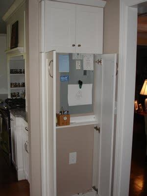 narrow cabinet  kitchen holds electrical box