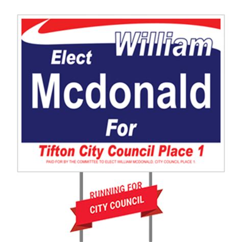Political Caign Brochure Template by Political Yard Signs Fast 28 Images Yard Signs