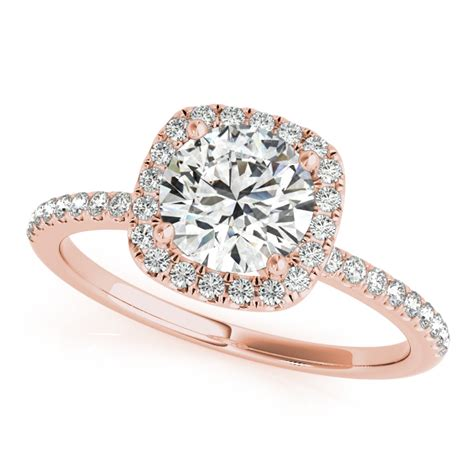 square halo engagement ring 14k gold 1 00ct