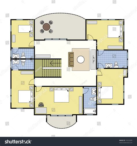 home layout vector first second floor plan floorplan house home building