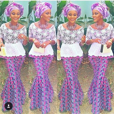 photo of nigeria lace skirt and blouse ankara skirt and blouse with lace http www dezangozone