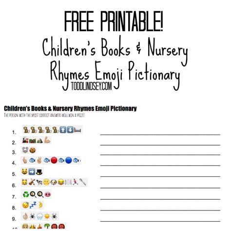 printable children s nursery rhymes free printable children s books nursery rhymes emoji