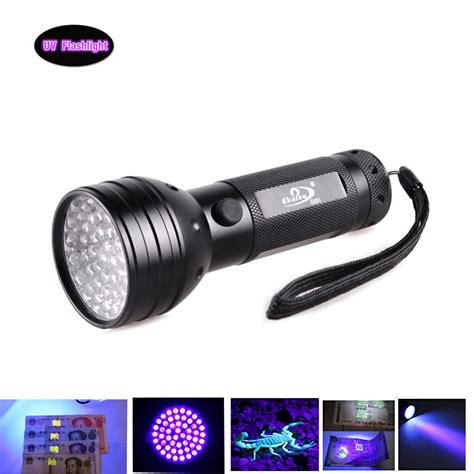 Produk Baru Senter Flashlight Led Uv Ultraviolet 9 Led Baterai free mail 51 led 395 nm uv ultraviolet black flashlight