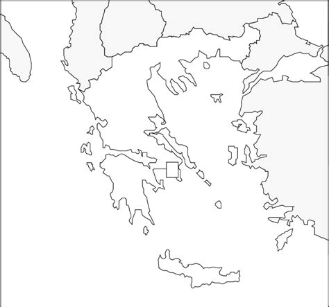 coloring page map of greece blank map greece printable