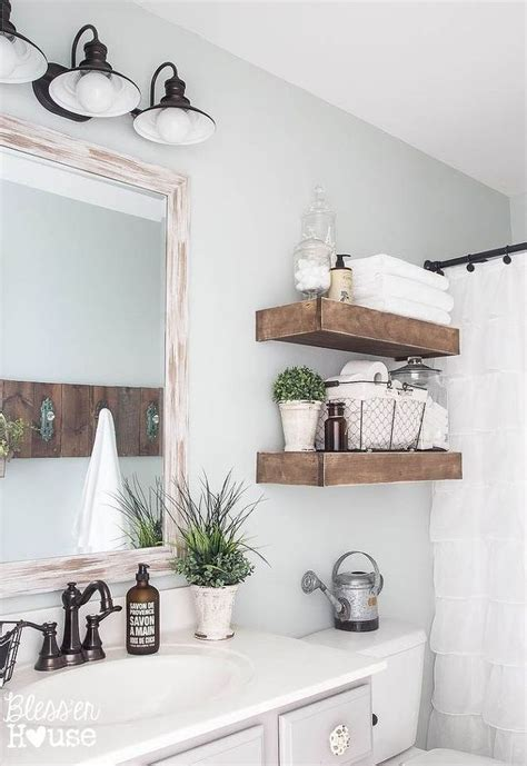 best 25 wooden bathroom shelves ideas on