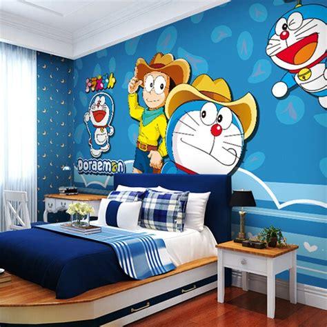 Wallpaper Dinding Kamar Doraemon | 10 gambar wallpaper dinding kamar tidur anak motif doraemon