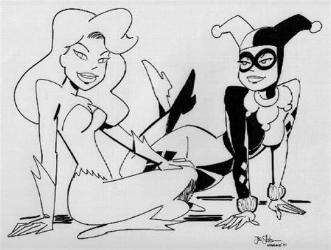 harley quinn and poison ivy coloring pages free coloring pages of batman harley quinn