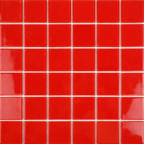 Wholesale vitreous mosaic tile crystal glass backsplash of kitchen design bathroom red glass