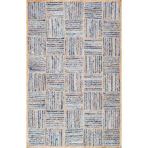 10 Ft Jute Rug - nuloom elva jute blue 8 ft x 10 ft area rug mgdr04a