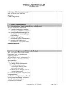 audit report template iso 9001 iso 9001 audit checklist
