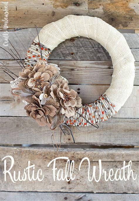 rustic craft projects fall wreath diy project idea burlap yarn consumer crafts