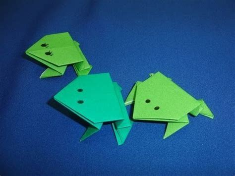 daily origami 002 jumping frogs craft ideas for