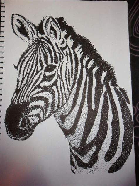 pattern animal artists zebra dot drawing black sharpie artist anneka collins