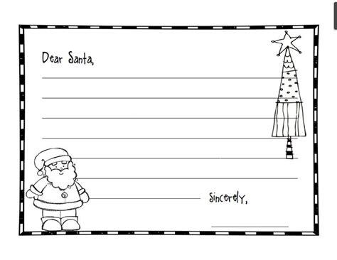 dear santa writing paper dear santa writing teaching