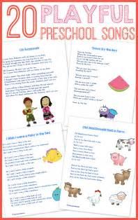 preschool for 20 best preschool songs free printable preschool songs