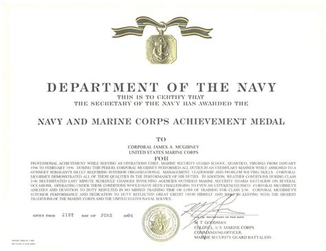 army achievement medal certificate army achievement medal certificate form number