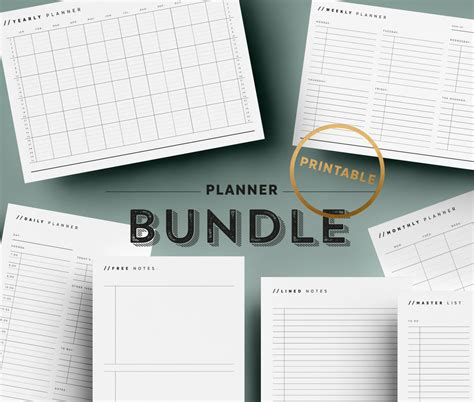printable planner bundle printable planner bundle undated planner pages to do