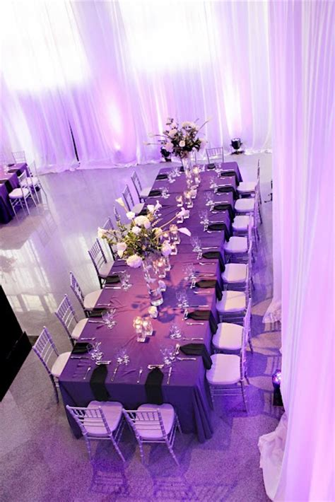 purple silver and white wedding table decorations royal or captains tables are great for seating large