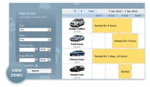 Daily Car Rental App Dhtmlx Scheduler Net Car Rental Application With Demo