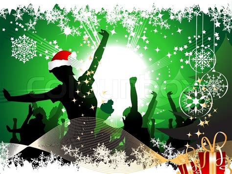 christmas party background stock vector colourbox