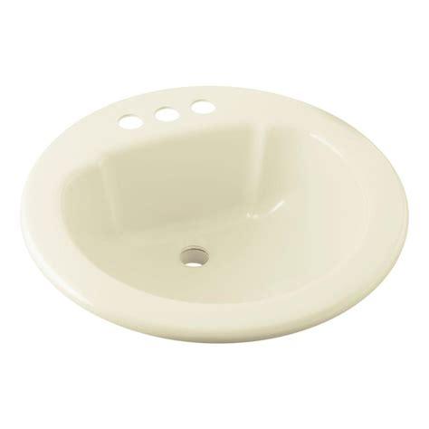 home depot drop in bathroom sinks sterling drop in vikrell self rimming bathroom sink in