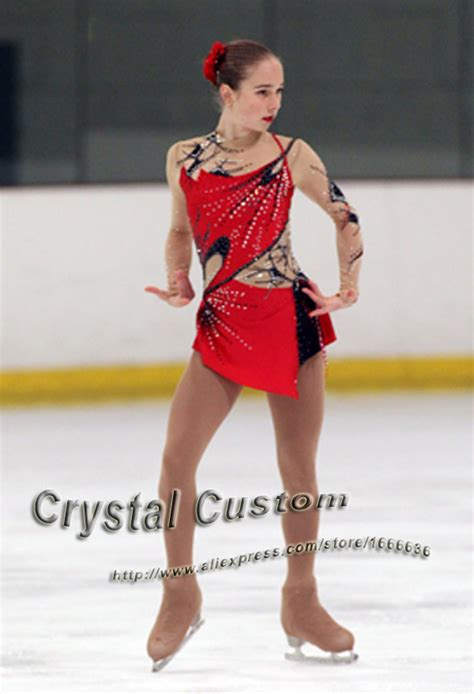 icy hot competitors hot sales custom child ice skating competition dress